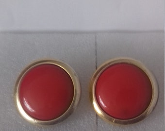 genuine 1920 vintage button earrings 3 cm clip on