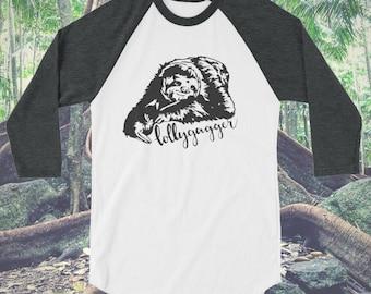 Lollygagger sloth baseball tee/sloth shirt/lollygag shirt/lollygagger shirt/slow sloth shirt/womens tee/ladies tee/animal shirt/baseball tee