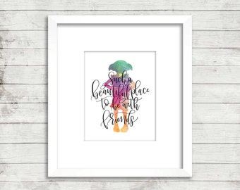 Dobby. Friends Quote. Harry Potter. Instant Download. Watercolor.  Calligraphy Print. Calligraphy Font.  Quote Prints. Home Decor. Wall Art.