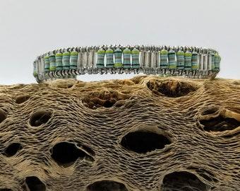 Seafoam green resistor bracelet