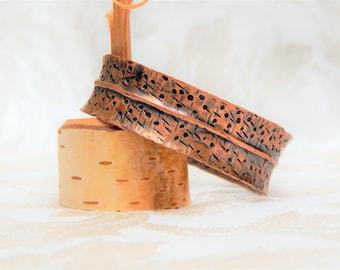 Birch Bark Inspired Cuff