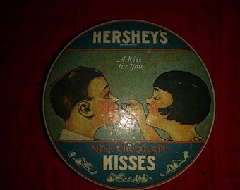 Imported Hershey's Kisses Metal Tin