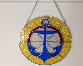 Handcrafted stained glass anchor