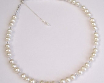 Anna Pearl Bridal Prom Necklace