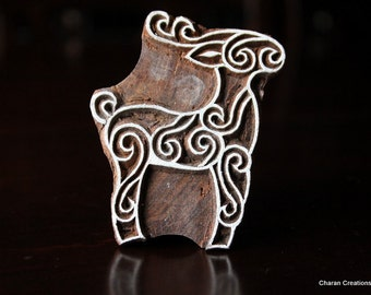 Indian Wood Block Stamp - Stylized Reindeer