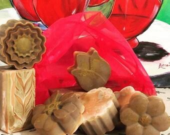 Creamcicle-Calendula Handmade Soap Floral Design