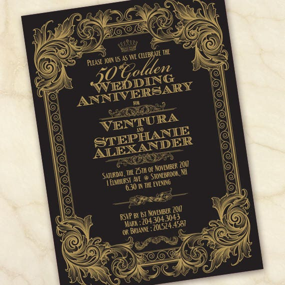 50th wedding anniversary, 50th anniversary party, golden wedding anniversary, golden wedding celebration, formal anniversary party, IN643