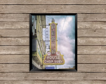 Chinese Food - Chicago Vintage Neon Sign Photography Print photo art