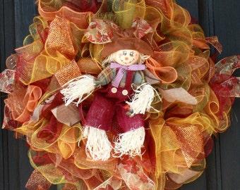 Scarecrow Ruffle Wreath
