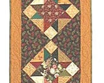 Scrappy Star Table Runner Pattern by Little Louise Designs EASY - Hard Copy Version - FREE SHIPPING!!