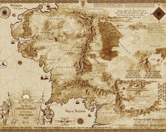 map of middle earth 32 silk poster
