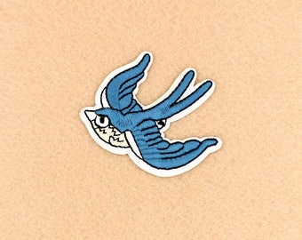 Bird Patch Iron on Patch DIY Patch Embroidered Patch Applique Embroidery 6.4x5.1cm