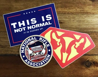 3-Pack: This Is Not Normal, Ovaries of Steel, & NRA Stickers