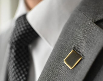 Darkened Rustic Brass Lapel Pin