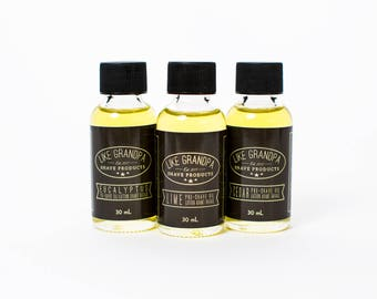 Pre-Shave Oil | All Natural | Lime, Cedar or Eucalyptus