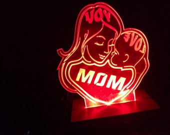 Mother's day gift, Edge lit acrylic Sign