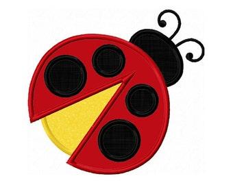 ladybug Applique Machine Embroidery Design NO:0138
