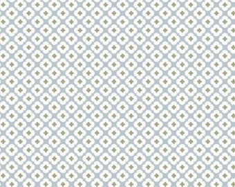 Fabric Christel g Design blue tormentil glossy 100% cotton percale novelty
