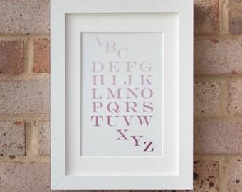 Alphabet, Muted Pink - Giclée print