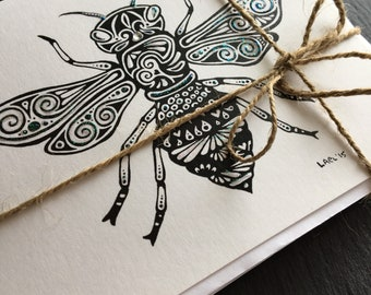Wings theme hand-drawn greeting card bundle