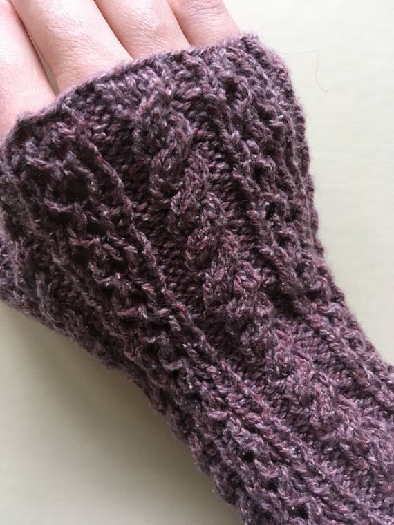 Wrist Warmers / Hobbyist/Reader's Mitts in Antique Rose