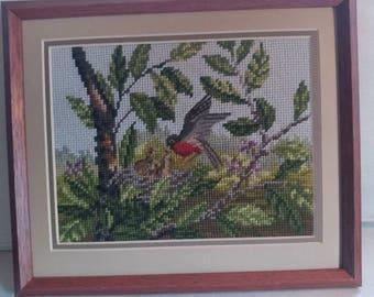 Decorative bird wall hanging.