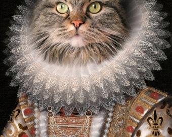 CAT PORTRAIT  - Custom Cat Portrait, Personalized cat portrait, Cat portrait, women's Gifts, Gifts for her, Cat Art, Cat Gift, Girl Gift