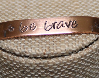 Copper Cuff Bracelet with inspirational messages - Female Empowerment ~ Affirmation Jewelry ~ Inspirational Quote