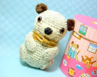 Pom Pom Ears Bear - Amigurumi animal toy pattern / PDF