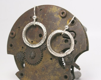 Sterling Silver Earrings - Circle