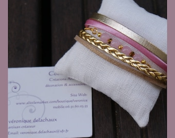 """little pink"" women bracelet"