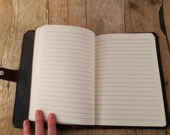 "Journal Refill 5-5/8"" x 8-1/4"" - Refill for Leather Journal - Journal Insert - Lined Sketchbook - Acid Free Paper - Travel Journal"