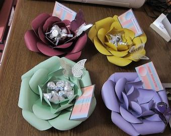 Paper Flower Bowls