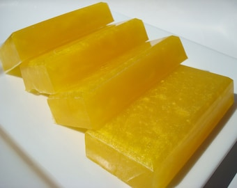 Island Nectar Soap - Bright Yellow Soap - Tropical Fruit Scent: Mango, Pineapple, Wild Berries, Coconut, Sugar, Plumeria, Citrus, Musk