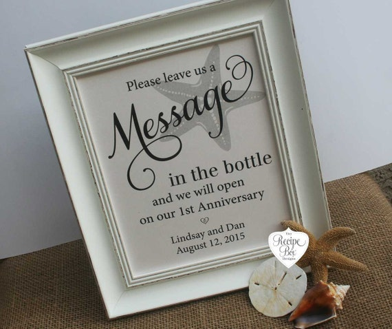 Wedding Guest Book Where It S Your Guests That Sign Their: Wedding Guest Book Beach Message In The Bottle Starfish