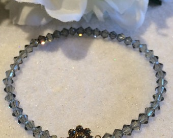 Swarovski Flower and Bicones Bracelet