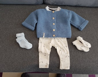 Jacket for baby girl or boy in  Grey blue
