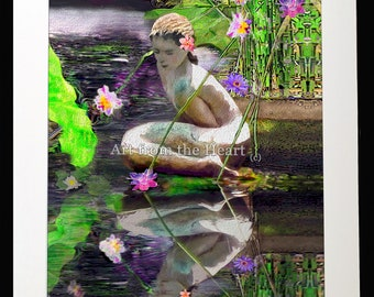 The Water Maiden - a garden faerie