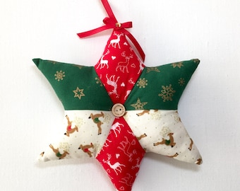 Reindeer Decorative Christmas Stars. Handmade Country Cottage, Festive Home  Decor, Gift Ideas,