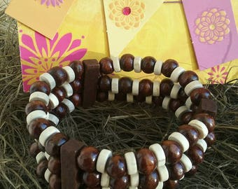 Wooden bracelet, Wood bracelet, Wood jewelry.