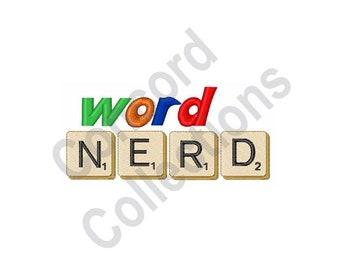 Word Nerd - Machine Embroidery Design, Scrabble Tiles