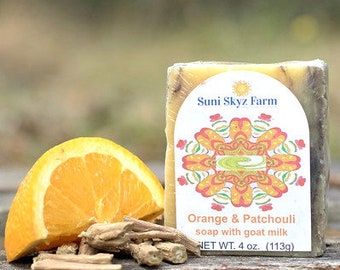 Orange Patchouli Goat Milk Soap - Orange Soap - Patchouli Soap - Goat Milk Soap - Handmade Soap - Natural Soap - Suni Skyz Farm