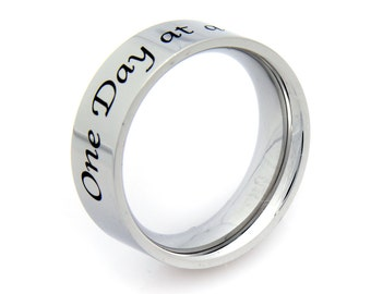 One Day At A Time Inspirational Ring