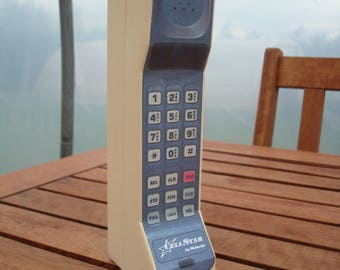 Toy Zack Morris Style Vintage Brick Cell  Phone Prop - Motorola DynaTAC CellStar. 1980s 1990s