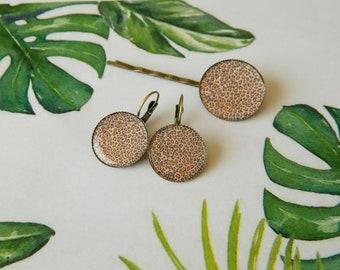 Set of 2 hair clips Bobby pins spirit Jungle Leopard pattern