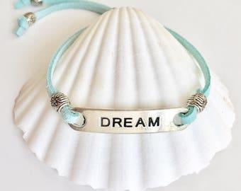 boho jewelry, dream faux suede bracelet, beach gypsy jewelry