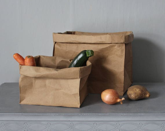 Paper Box Washable Paper Bag Brown Kraft Paper Bag Storage