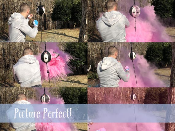 BOXING MMA UFC Gender Reveal! Simple Black Pack for Fighting or Kickboxing Themed Gender Reveal Ideas