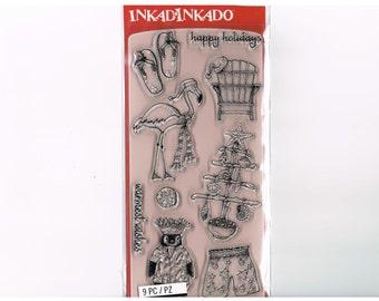 Warmest Wishes clear acrylic stamp set, by Inkadinkado (60-31350) - CS123
