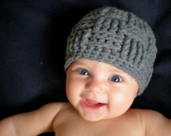 PATTERN:  Triscuit Hat, basket weave beanie, woven easy crochet PDF, InStAnT DoWnLoAd, Sizes newborn to Adult, Permission to Sell